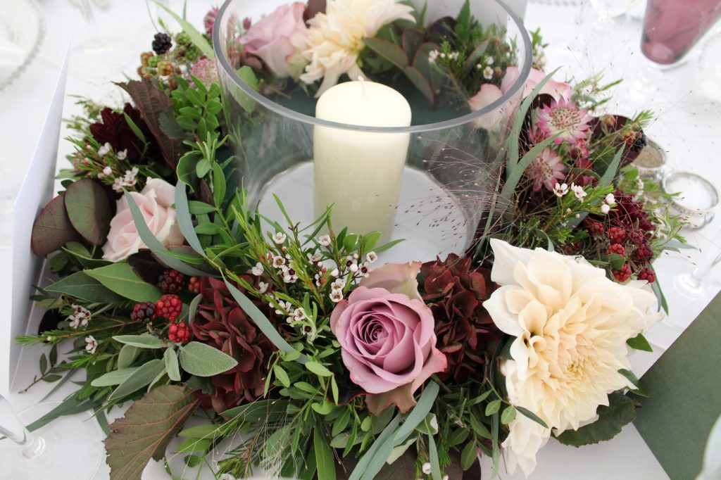 marquee wedding hurricane lamp table centrepieces