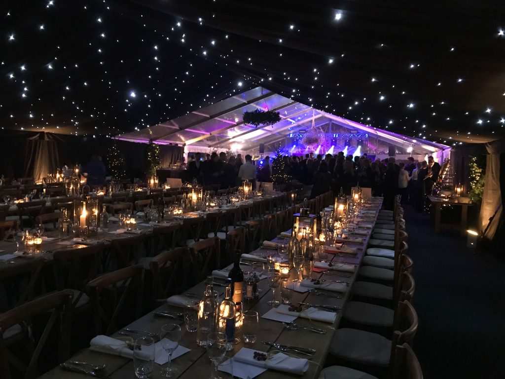 Starry ceiling and clearspan ceiling for marquee decoration