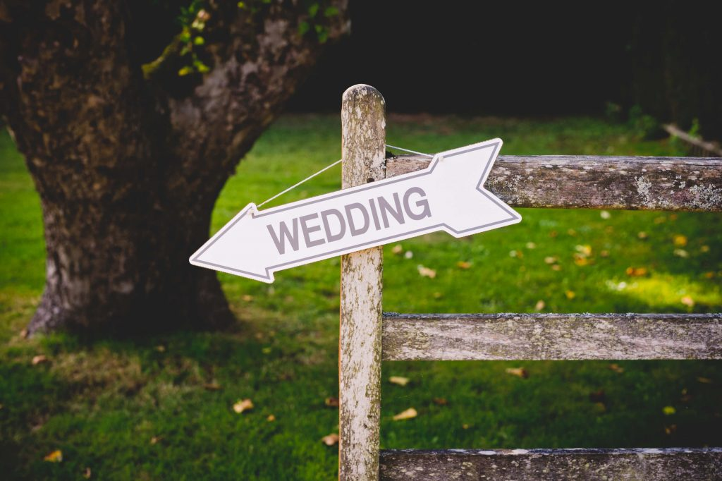 Micro wedding signage