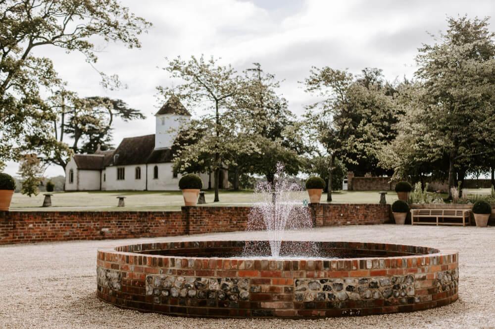 Church and Courtyard at Wasing Park Berkshire Wedding Venue