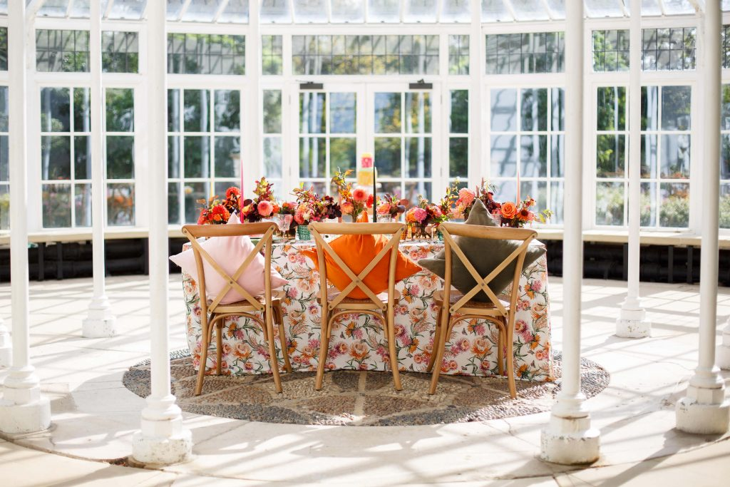 Berkshire Wedding Venue in a glasshouse for an intimate wedding.