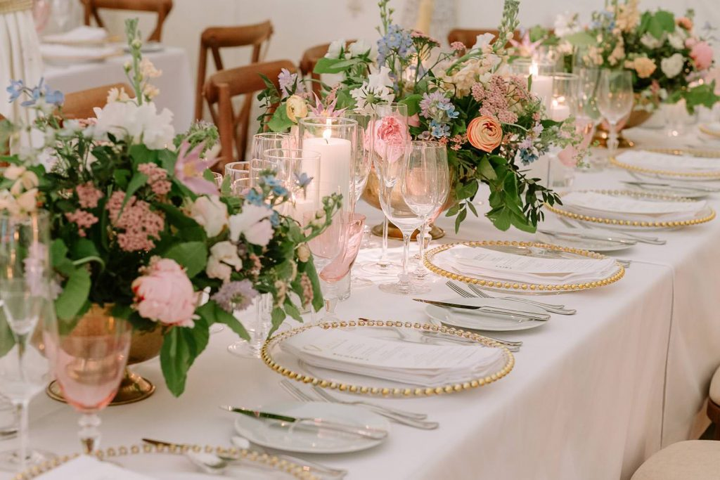 Spring Wedding Date tablescape